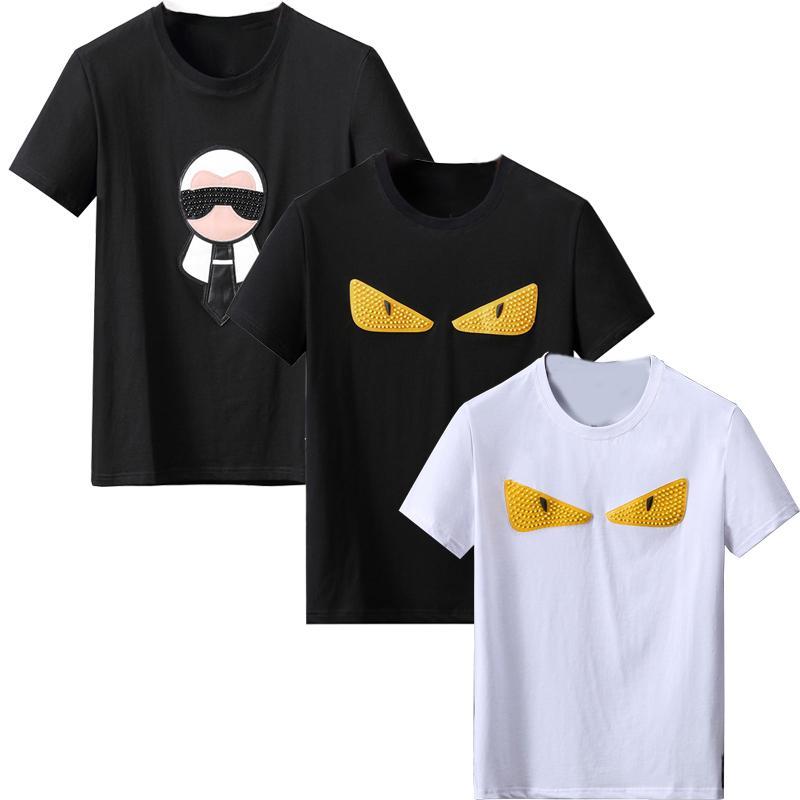 패션 망 티셔츠 남성용 여름 셔츠 여성 짧은 소매 티 의류 편지 패턴 인쇄 티셔츠 크루 넥 크기 QAQ