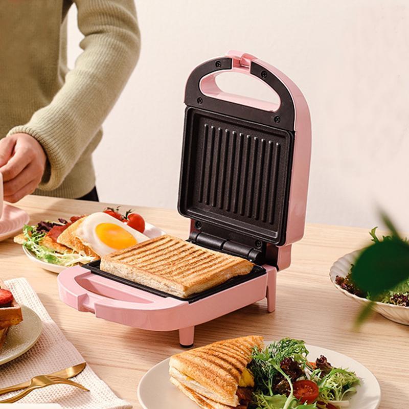 Brotmacher 2021 650W Elektrische Sandwich Maker Frühstücksmaschine 220V Eierkuchenofen Sandwichera koloster multifunktional