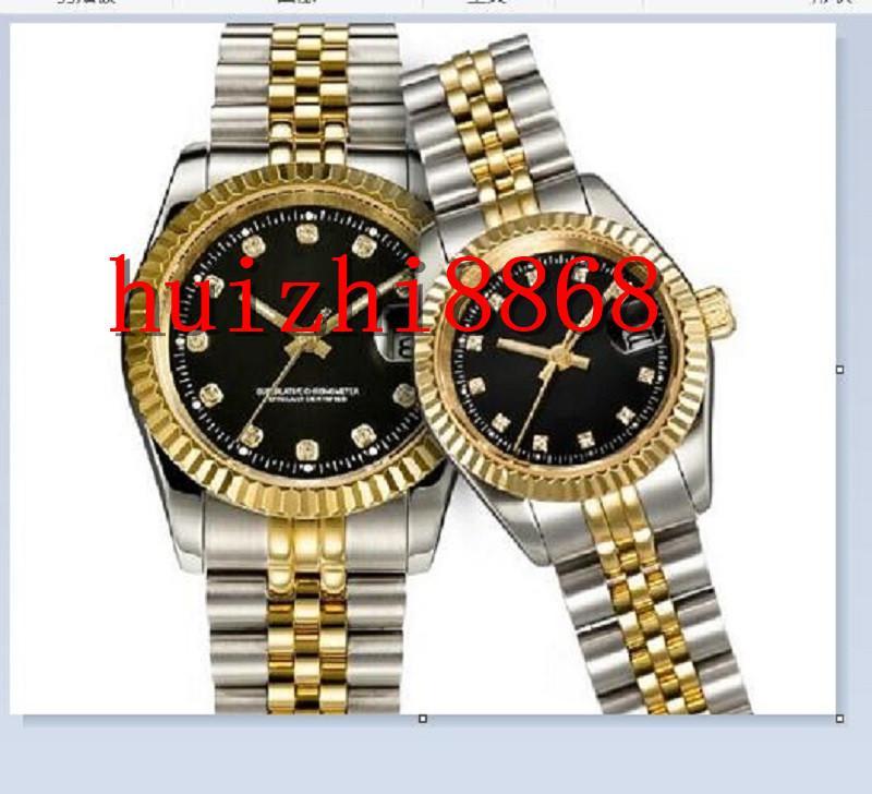 U1 Качество Montre de Luxe Mens Автоматические часы Полная нержавеющая Сталь Светящиеся Женщины Часы Пары Стиль Классические наручные часы Reloj Dee Lujo