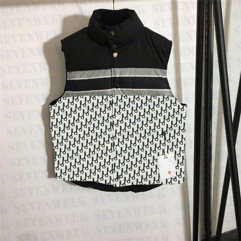 Mode Warten Westen Daunenjacken Designer Brief Druck Oberbekleidung Mantel Winter Warme Jacke für Männer und Frauen