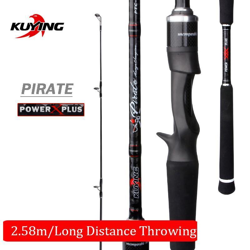 "Boot Angelruten Kuying Piratenguss Spinning M 2.58m 8'6 ""LURE ROB FISH CANe Pole Stick Fuji Ersatzteile Kohlefaser Medium Schnell"
