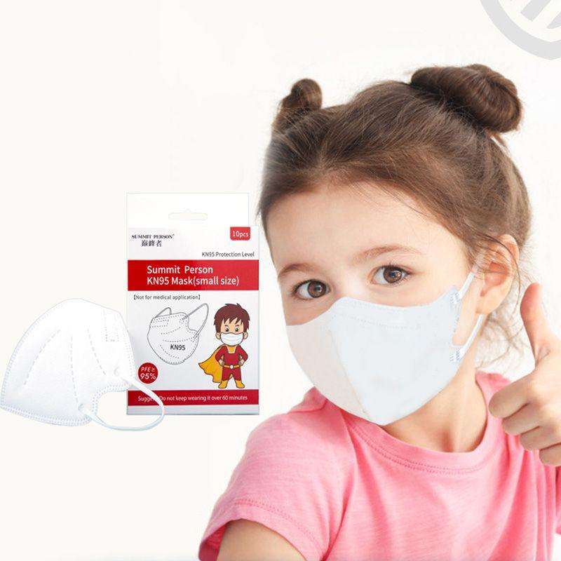 KN95 Mascarilla para niños para niños a prueba de polvo a prueba de salpicaduras transpirable 5 capas protección kn95 máscaras moda reutilizable civil mascarillas