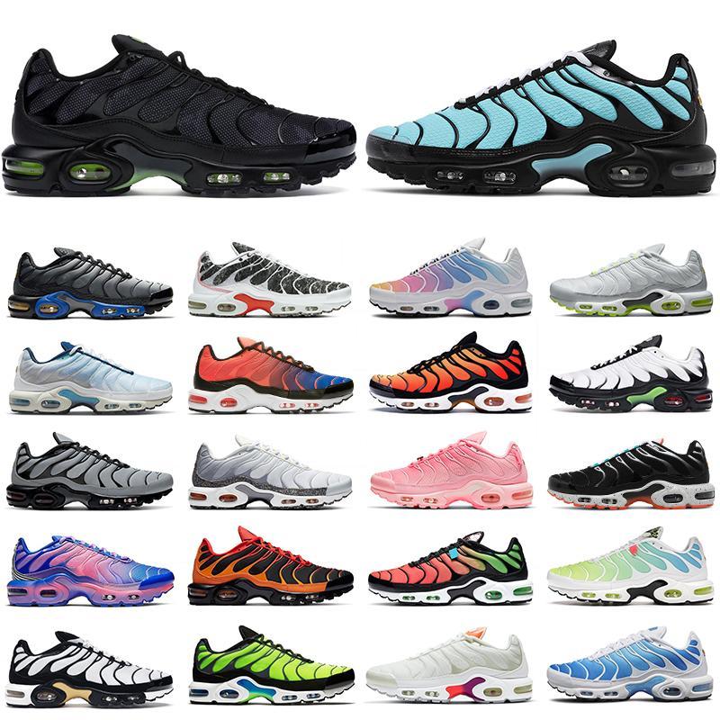 2021 tn air max plus shoes زائد حد ذاته الرجال النساء الاحذية المدربين الثلاثي أسود أبيض فرط الأزرق الجهد الأرجواني قوس قزح تيل تويست الرجال في الهواء الطلق حذاء رياضة