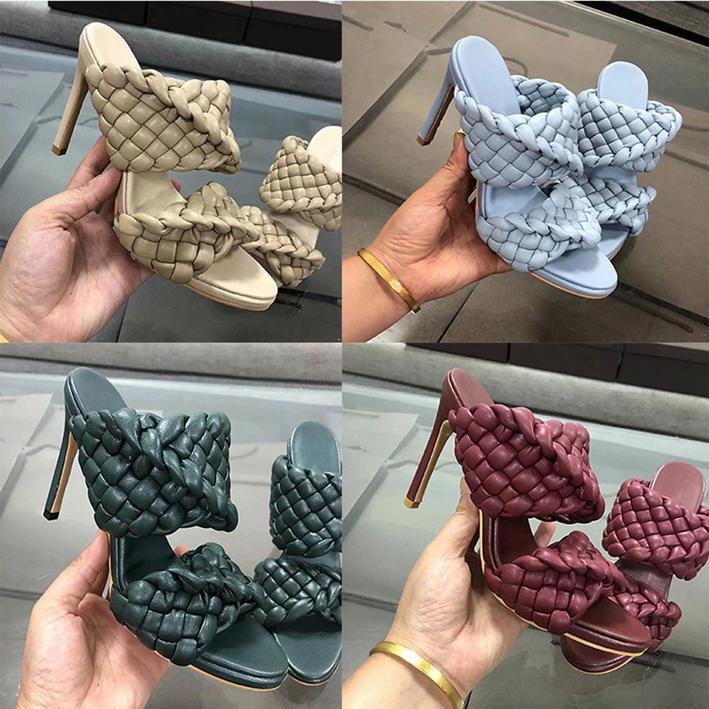 2021 gut verkaufen Mode Frauen High Heel Sandalen Hausschuhe Frau Dicke Bodenschuhe Sommer Strand Folien Sandalen von shoe02 01