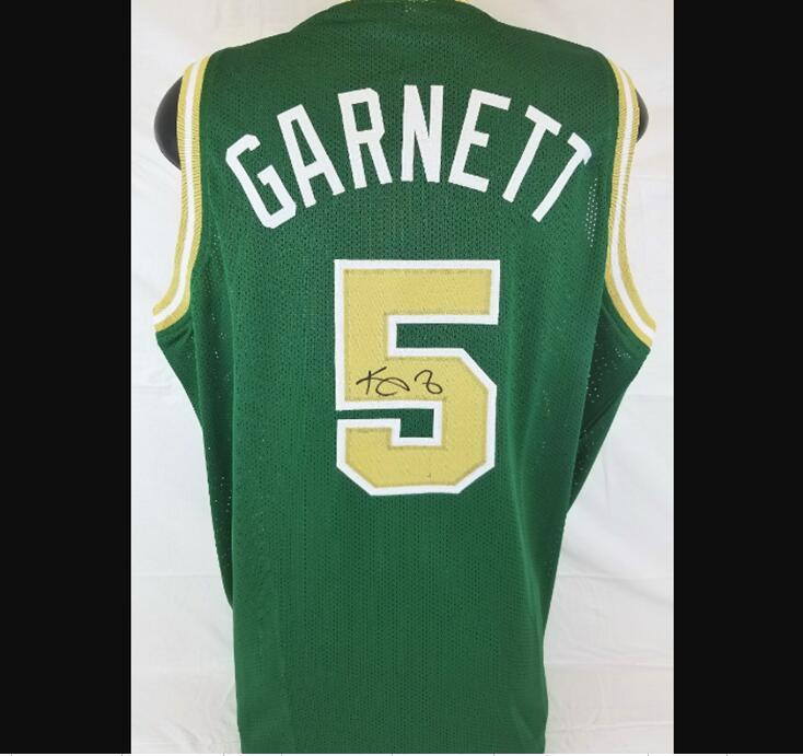 Garnett imzalı imza imzalı imzalı oto jersey gömlek