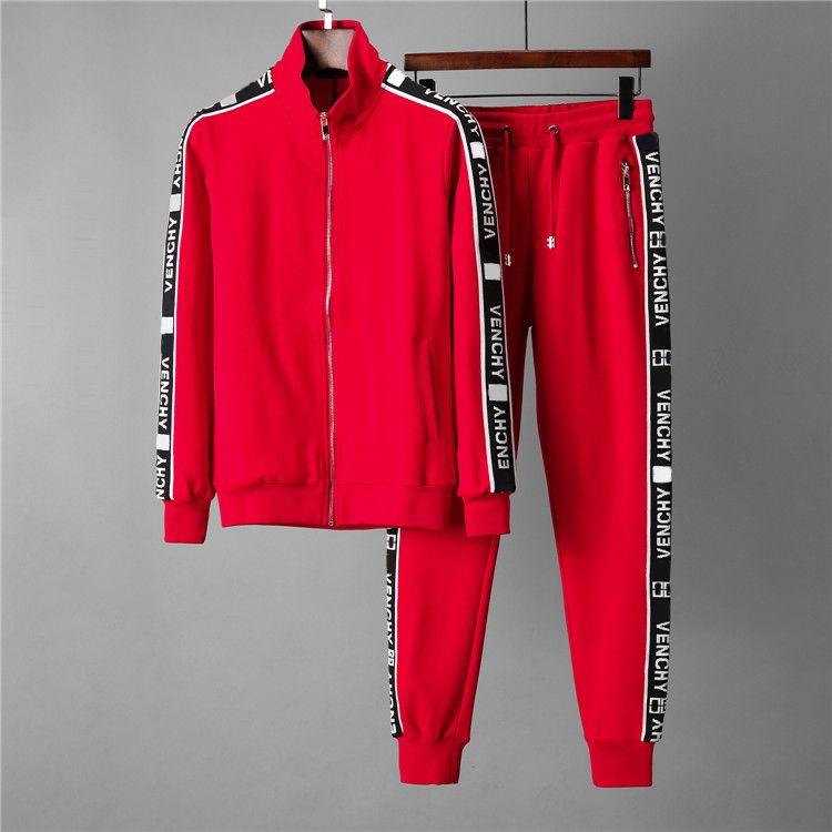 Yüksek Kaliteli Erkek Eşofman Spor Erkek Koşu Takım Elbise Hoodies Kazak Kazak Bahar Sonbahar Rahat Spor Setleri Giyim Kıyafetleri W55