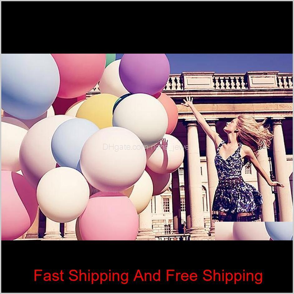 36 pouces énormes ballons de latex coloré gonflable gonflable explosant géant ballon mariage fête de mariage grand ballon décoration nbif5 xysdz