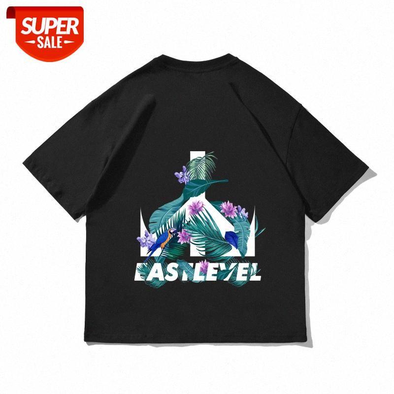Модный бренд Европейская и американская мужская футболка с короткими рукавами летняя антивоенная печать Национальный прилив High Street Хлопок BF Lovers COM # L72W