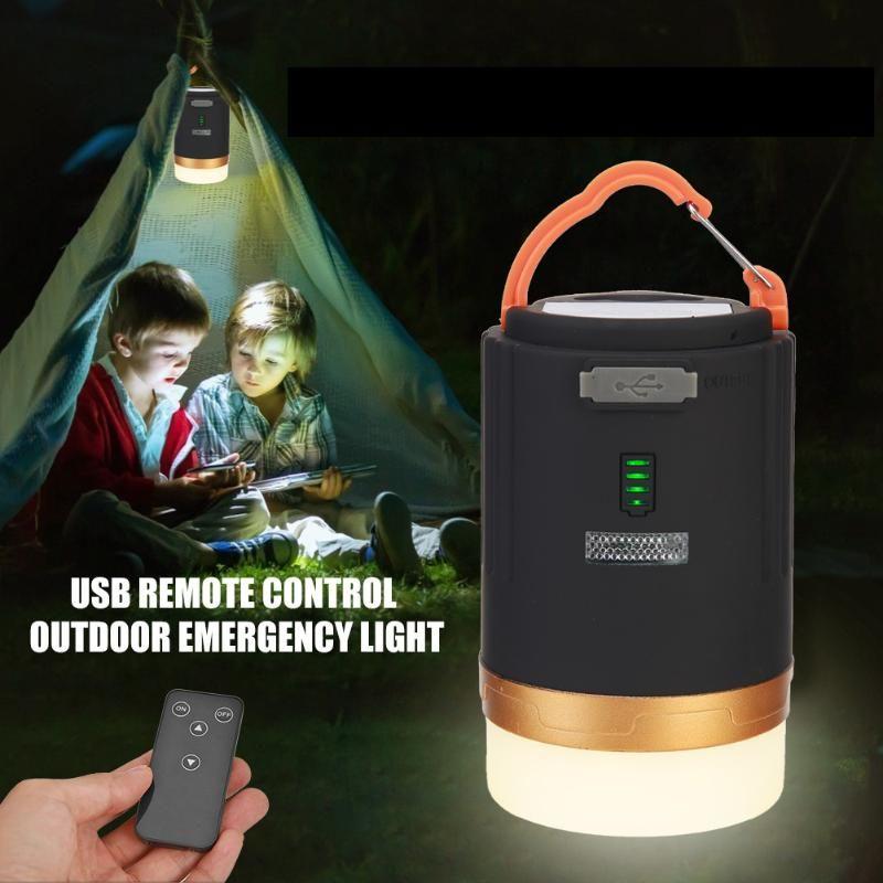 Dayanıklı Taşınabilir USB Şarj Edilebilir Çadır Kamp Lambası Pratik Çok Fonksiyonlu Açık Uzaktan Kumanda Asılı Işık