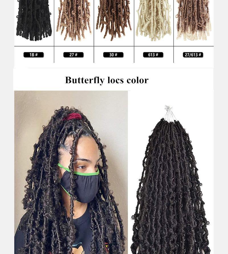 12 дюймов новых бабочек вязание крючком наращивание волос Химическое волокно волос 2021 Женщины плетеные бабочки вязание пятна бабочки замки преданы