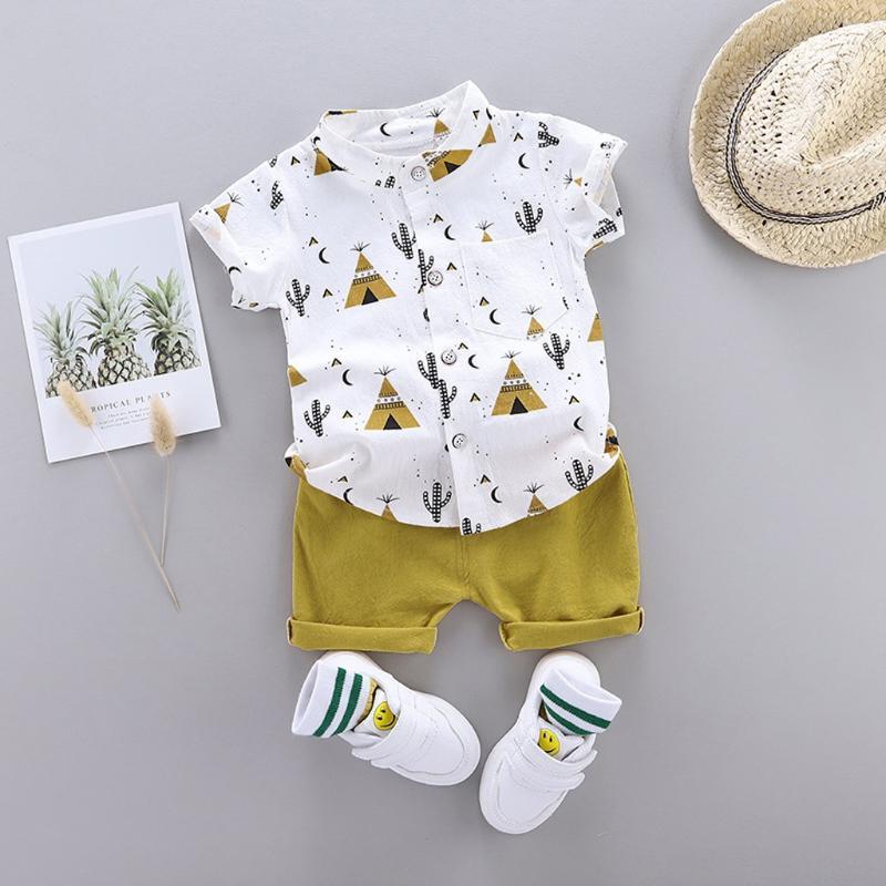1-4YEARS Ropa de bebé para bebés infantiles Conjunto de ropa de dibujos animados Tops + Pantalones cortos Trajes de verano Baby Boys Ropa Sets Ropa para niños Verano