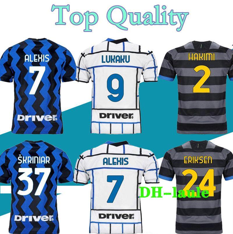 16-4XL 20 21 성인 어린이 축구 유니폼 Lautaro Alexis Perisic Football Shirt 2020 2021 성인 Politano Barella Maillot de Foot
