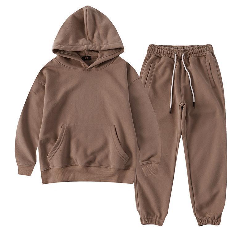 Sudadera con capucha para niños Terry Cotton Girls Sport Traje 2021 Spring New Sweatshirt Sweypants Dos Pieces Kids Traje Ropa Niño Set