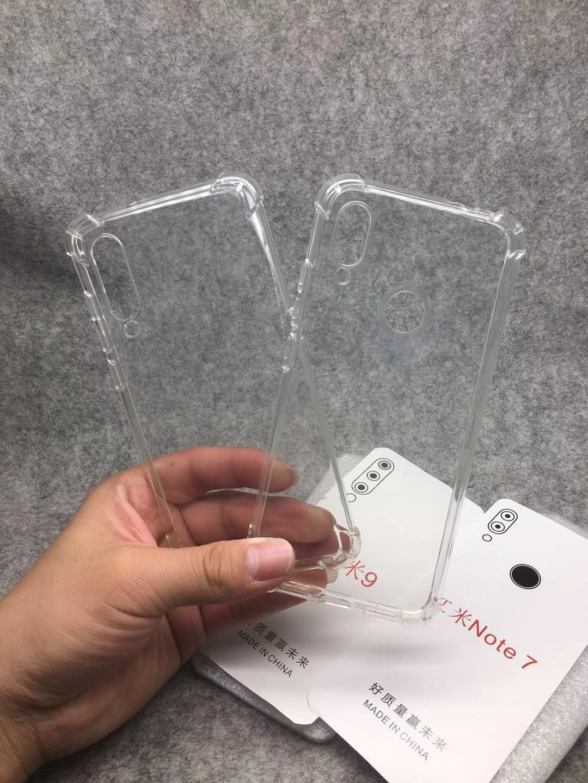 1,5 mm Airbag Airbag Anti-Shock Trasparente Custodia TPU Custodia per Xiaomi 10 Lite Redmi K30 Pro 100pcs / lot