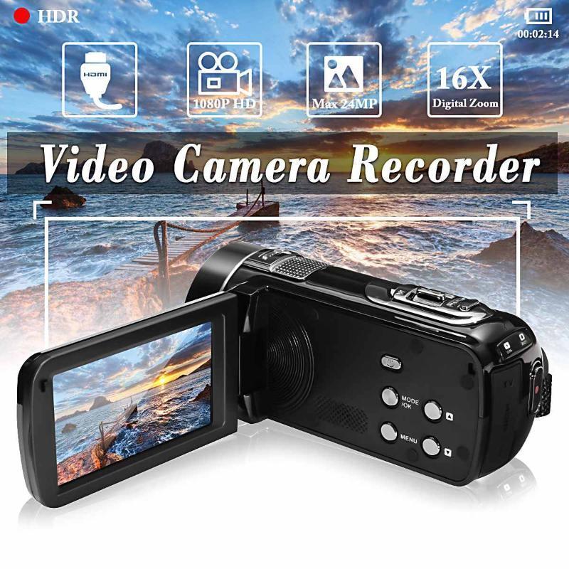 Camcorders 24MP Full HD 4K 1080p Touchscreen Video Câmera Handheld DV Profissional Night Vision Anti-Shake Digital Po Camcorder