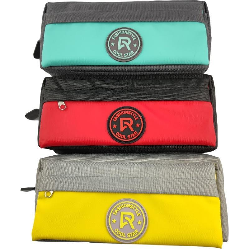 Большие емкости карандашные сумки прочный студент канцтовары липучки дизайн офисные принадлежности