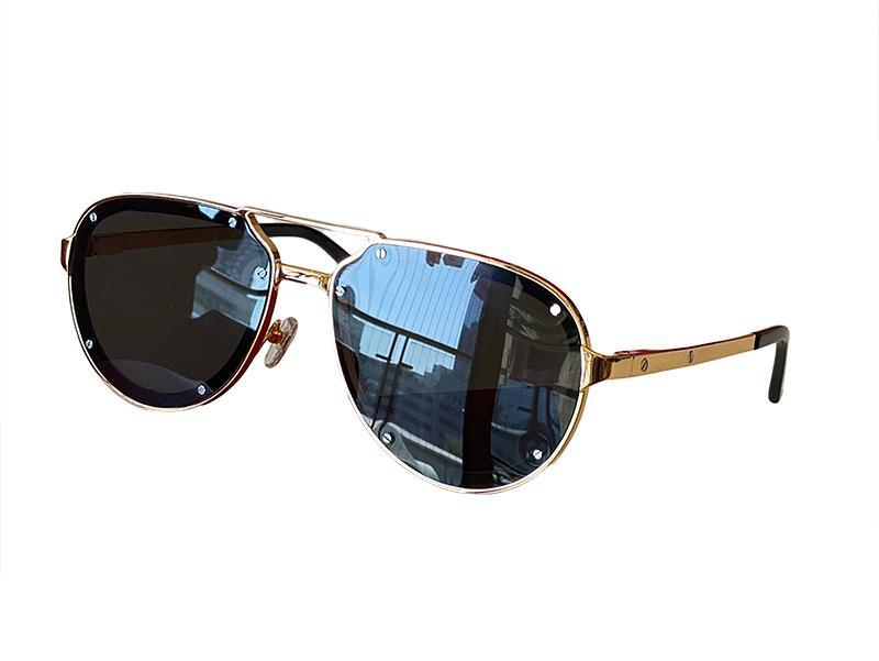 Sunglasses For Men and Women Summer style 0195S Anti-Ultraviolet Retro Plate Metal Oval Full Frame fashion Eyeglasses Random Box