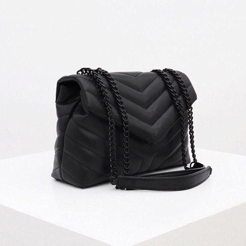 مصمم مصمم فاخر حقيبة Loulou شكل جلد السيدات السيدات سلسلة معدنية حقيبة الكتف جودة عالية رفرف حقيبة رسول حقيبة بالجملة