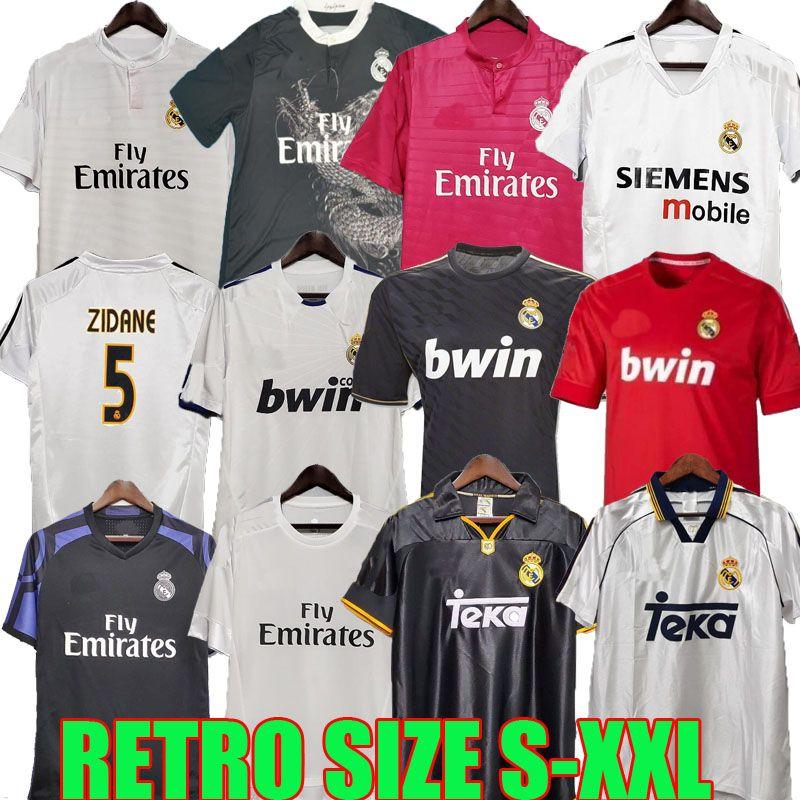 Retro Real Madrid Vintage Jersey 10 11 12 13 14 15 16 Guti Ramos McManaman Ronaldo Zidane Beckham 06 07 Raul 96 97 98 99 00 Redondo