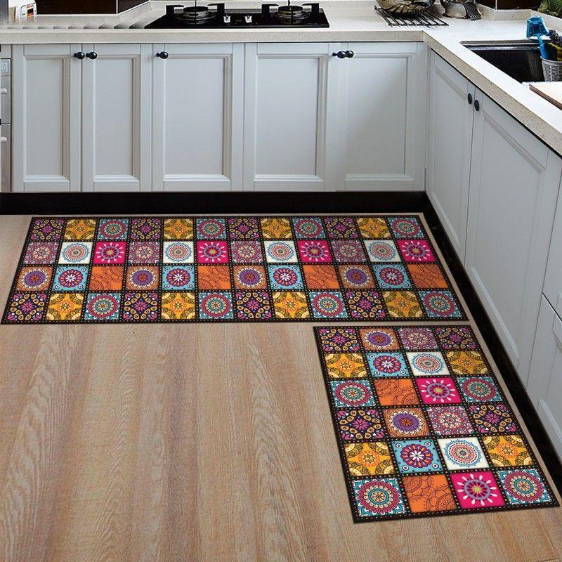 Kitchen Anti-slip Modern Area Rugs Living Room Balcony Bathroom Printed Carpet Hallway Geometric Bath carpet