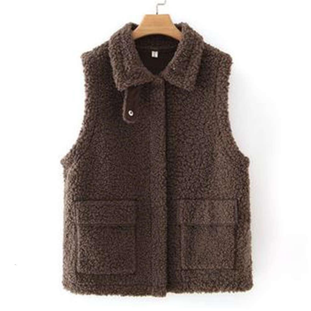 Woman Oversize Vests Female Thicken Waistcoat Imitation Fur Lambswool Chaleco Ladies Loose Warm Gilet Manteau Sleeveless Jackets