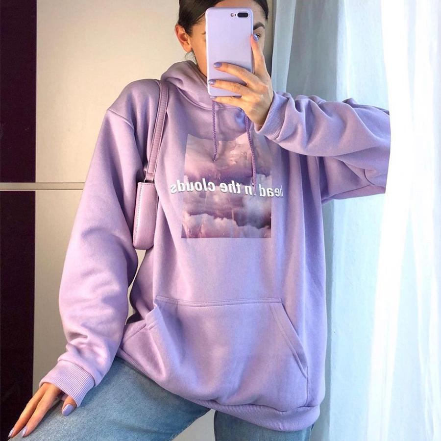 2021 luz letras roxas impressas hoodie para lindas meninas superdestem camisola mulheres inverno quente tops novo coreano moda harajuku buk7