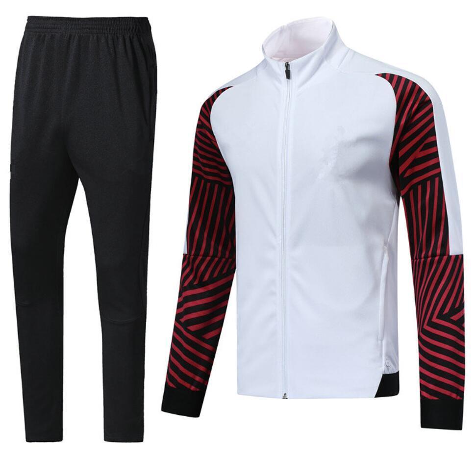 0019 Veste de style décontracté Veste Maillot de pied Survèrent Full Zipper Jogging TrackSuit Kits Taille S-XL