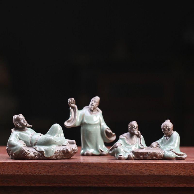 Mini Keramik Zen Tee Haustier Kleine Ornamente Kreative Celadon Figuren Teetisch Handwerk Home Wohnzimmer Desktop Dekor Zubehör