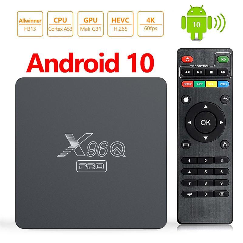 X96Q Pro TV Box Android 10 Smart Tvbox Allwinner H313 Quad Core 4K 60FPS 2.4G WiFi Google PlayStore X96 Mini