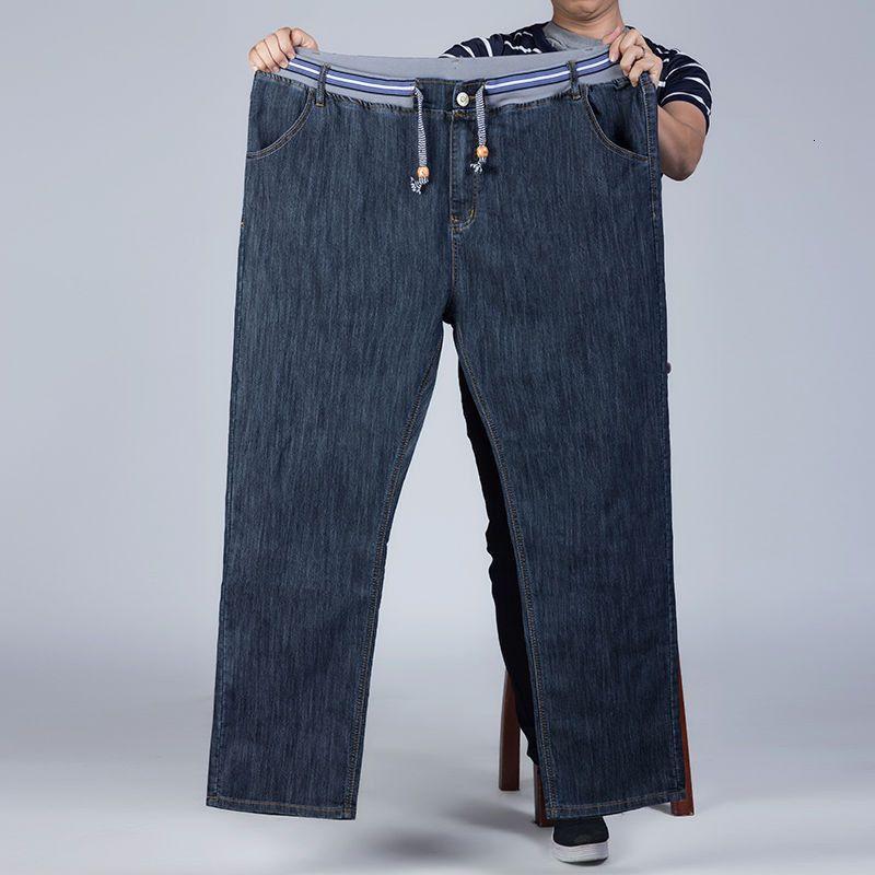 Boyutu Artı Büyük Siyah Kot Erkekler Elastik Denim Pantolon Mens Jean Marka 2021 Pantolon Man CL 3S0T