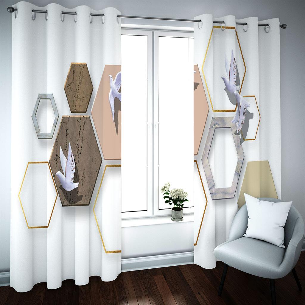 2021 Custom Абстрактный 3D Window Занавес для гостиной Blackout 3D Спальня Занавески Драпы
