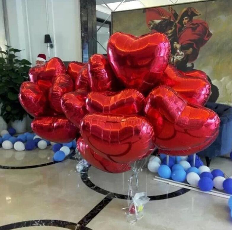 Bra kvalitet ultra stor hjärta ballong aluminium folie ballong bröllop äktenskap dekoration 100pcs