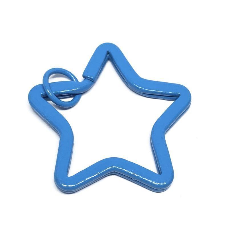 10 unid / lote 19 colores de inicio Forma de inicio DIY Metal Tenedor de llaves Split Rings Unisex Llavero Llavero ACCESORIOS Llavero Haciendo Acc Jlldvy