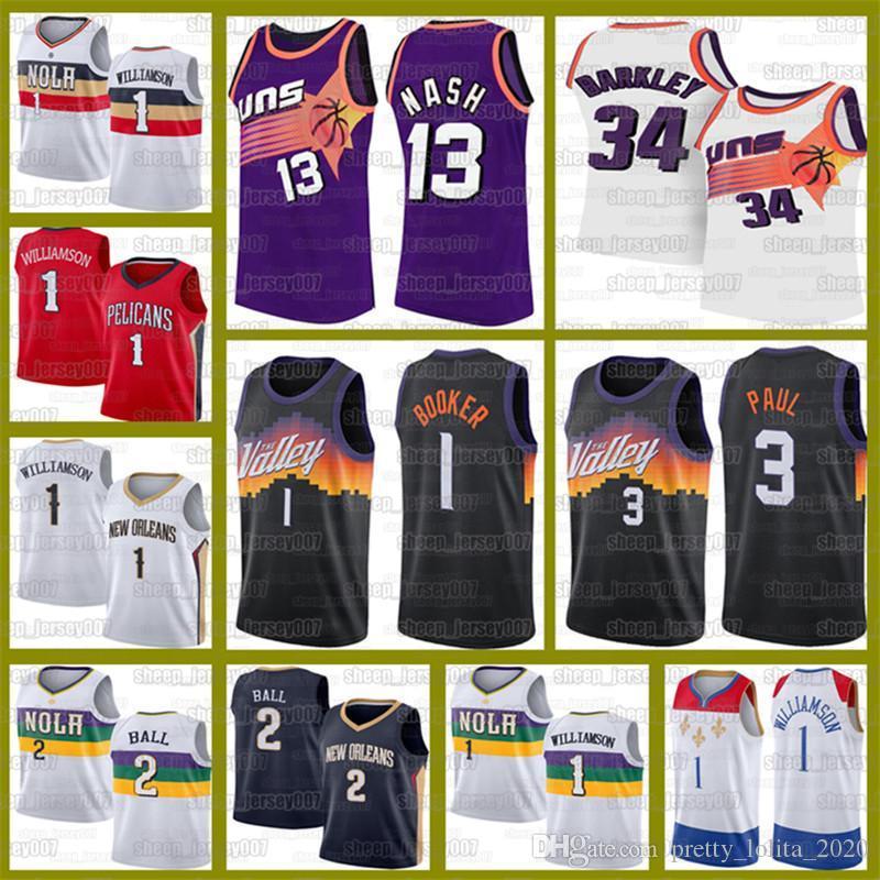 Devin 1 Booker New OrleansBasketball Zion 1 Williamson PelikaneTrikots Lonzo 2 Ball Charles 34 Barkley SonnenSteve 13 Nash.