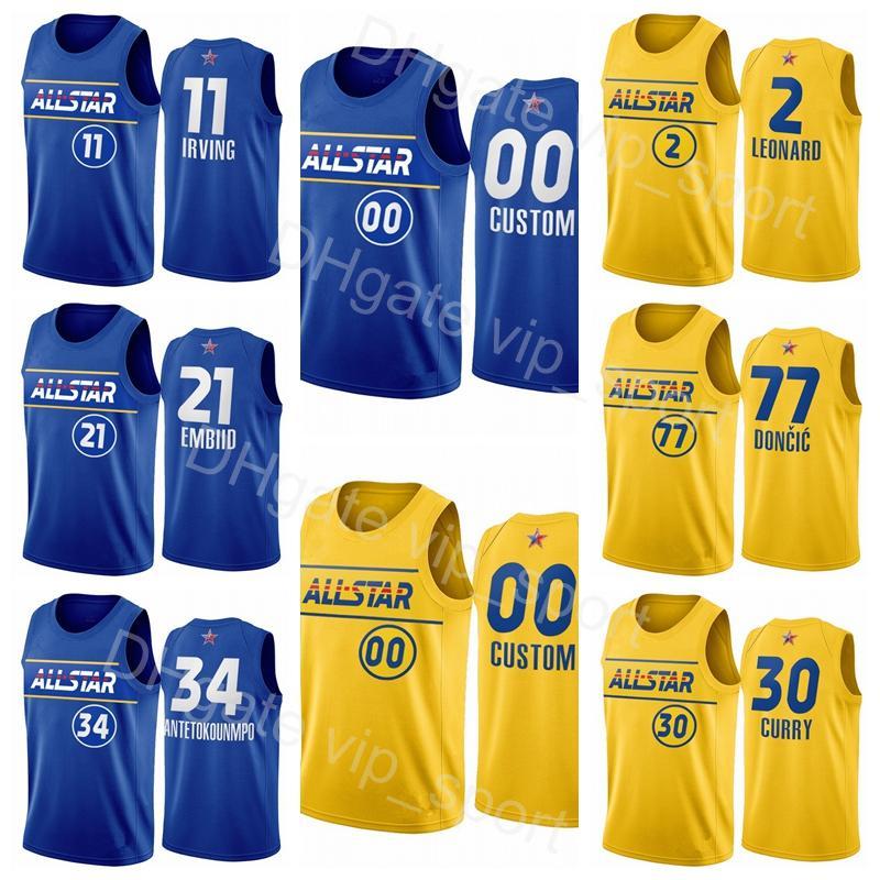 Jersey Basketball All-Star LeBron 23 James Harden Stephen Curry Luka Doncic Kawhi Leonard Kyrie Irving Giannis Antetokounmpo Embiid Booker