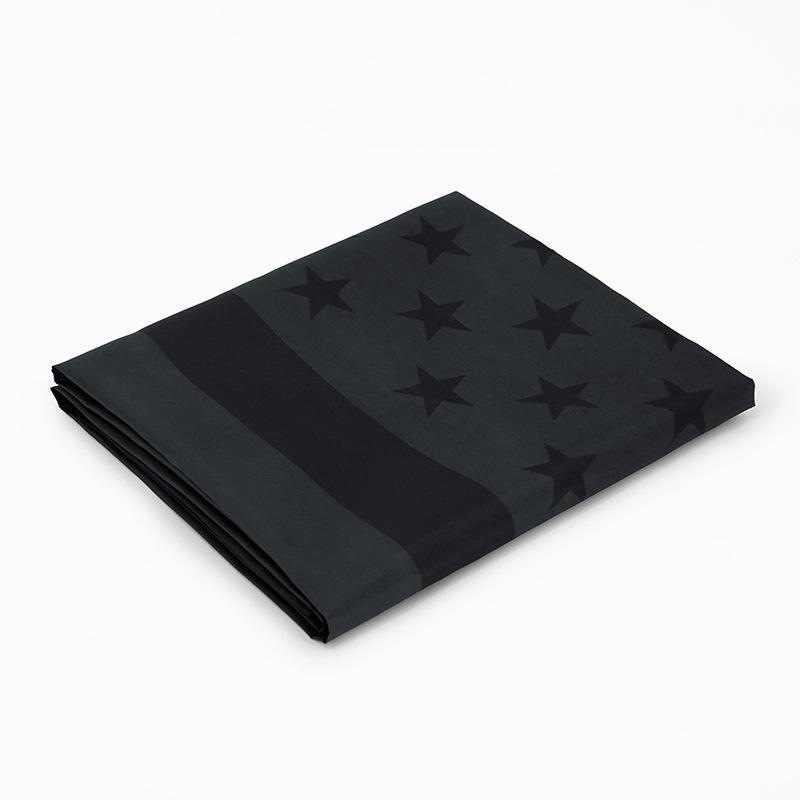 3x5ft الأسود العلم الأمريكي البوليستر لن يعطى لنا الربع لنا الولايات المتحدة الأمريكية راية حماية التاريخية العلم راية على الوجهين CCF5136