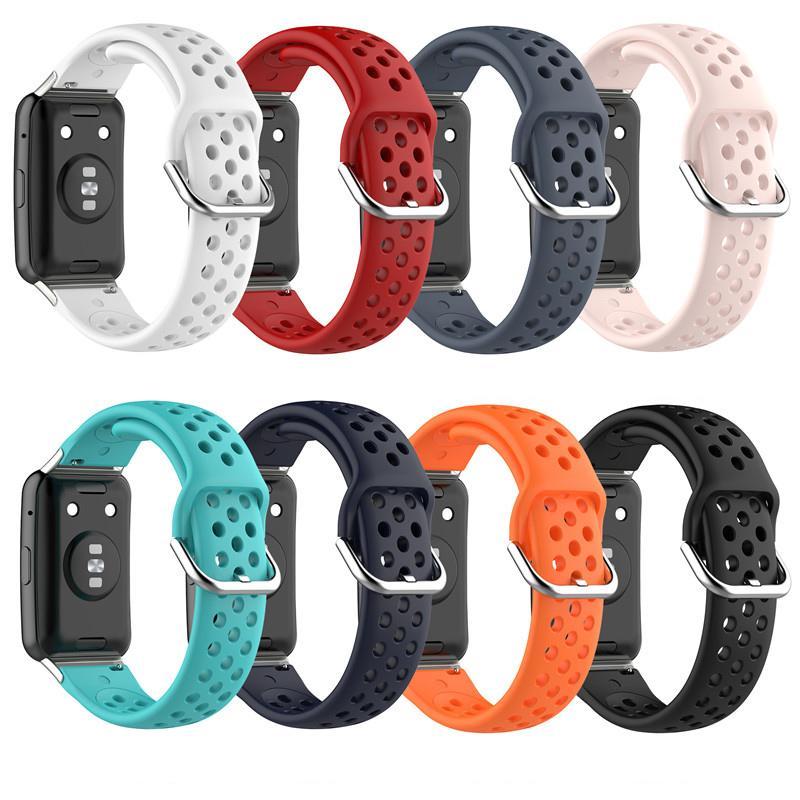 Силиконовый спортивный ремешок для Huawei Watch Fit Fitness Smart Watch Protective Case Shell Kit Замена запястья Браслет браслета запястья