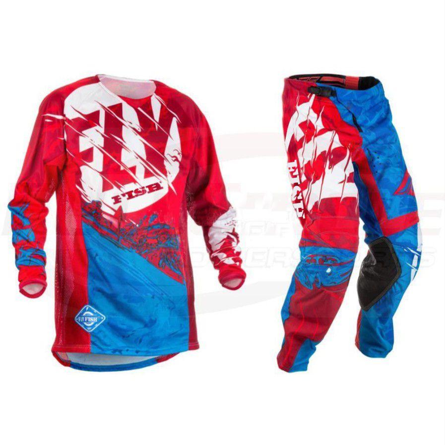 Fly Fish Kinetic Outlaw Jersey Pant Combo Set MX Riding Gear MX/ATV/BMX 2018