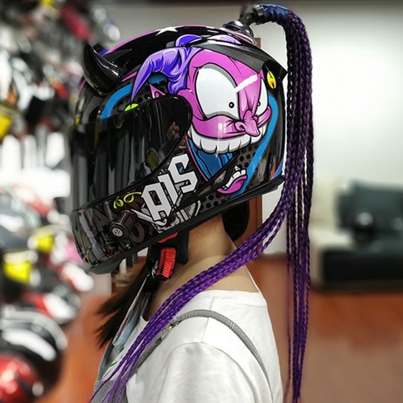 Casques de moto avec casque de tresses Modular Casco Moto Moto Double Visor Full Face Motocross Motocross Biker Capacete