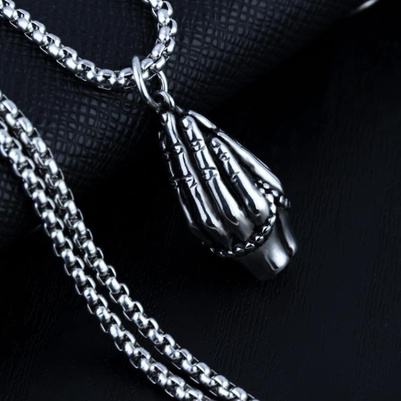 Chains Faith Hands Prayer Pendant Necklace Religious Exquisite Amitabha Jewelry Cubic Ladies Gift Wholesale