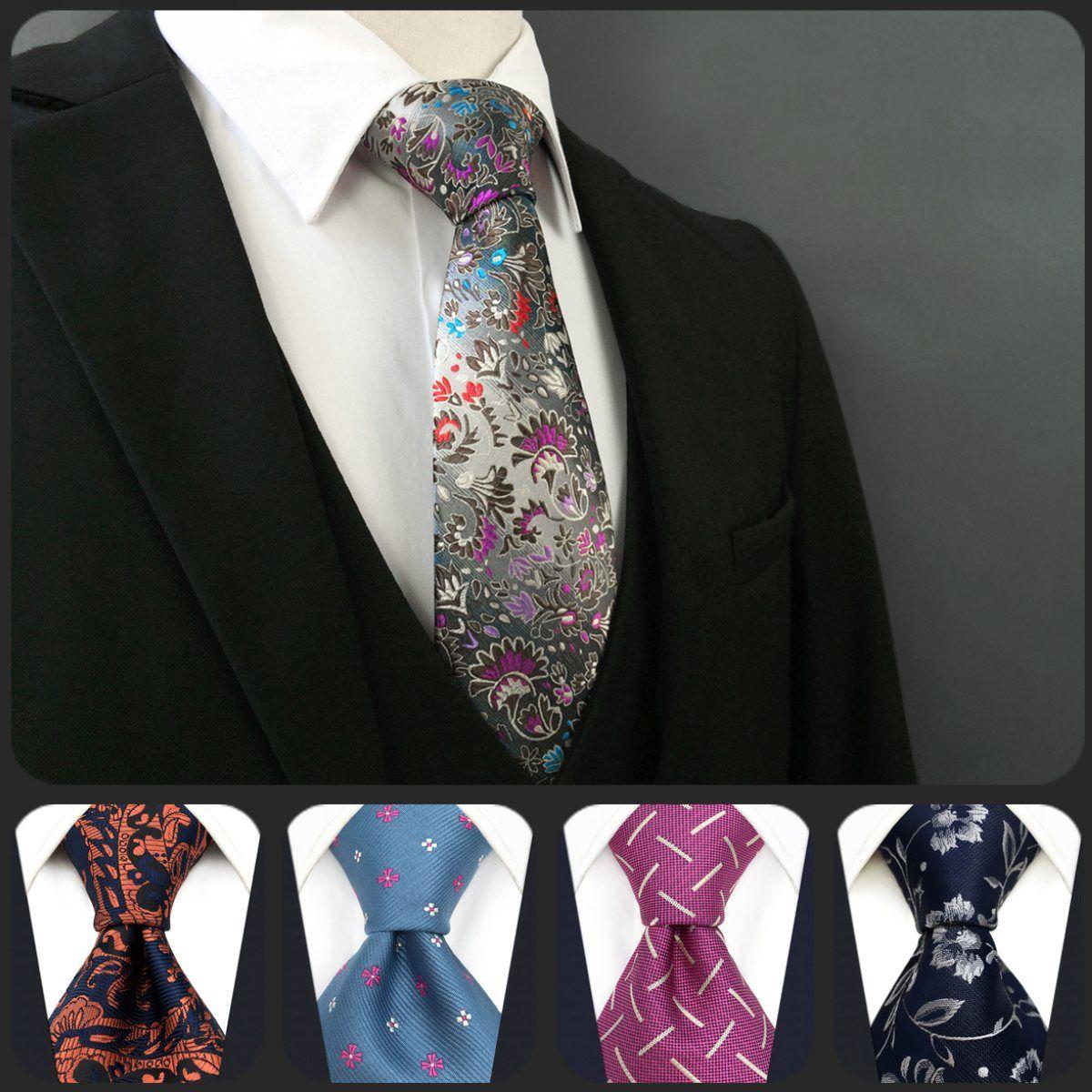 기하학적 패션 플로랄 패턴 여러 가지 빛깔의 망 넥타이 넥타이 100 % 실크 여분의 긴 크기 새로운 자카드 짠