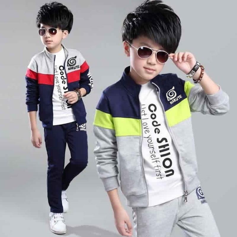 Récupérer des combinaisons de formation de garçons Ensembles Coton Manteaux + Brochure 2 pièces Sport Pack Enfants Vêtements Ensemble Costumes Outfit 2-13