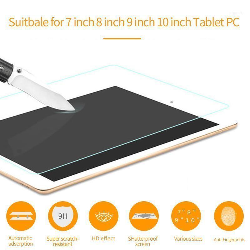 7/8/9/10 인치 타블렛 PC 용 강화 유리 9H 스크래치 화면 보호기 보호 필름 가드 안티 블루 레이 iPad11