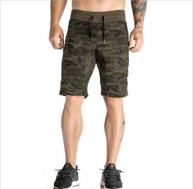 Palestre Brand Abbigliamento Sporting Shorts Uomo Abbigliamento Pantaloncini Homme Camo Black Bodybuilding Bermuda Masculina Uomo