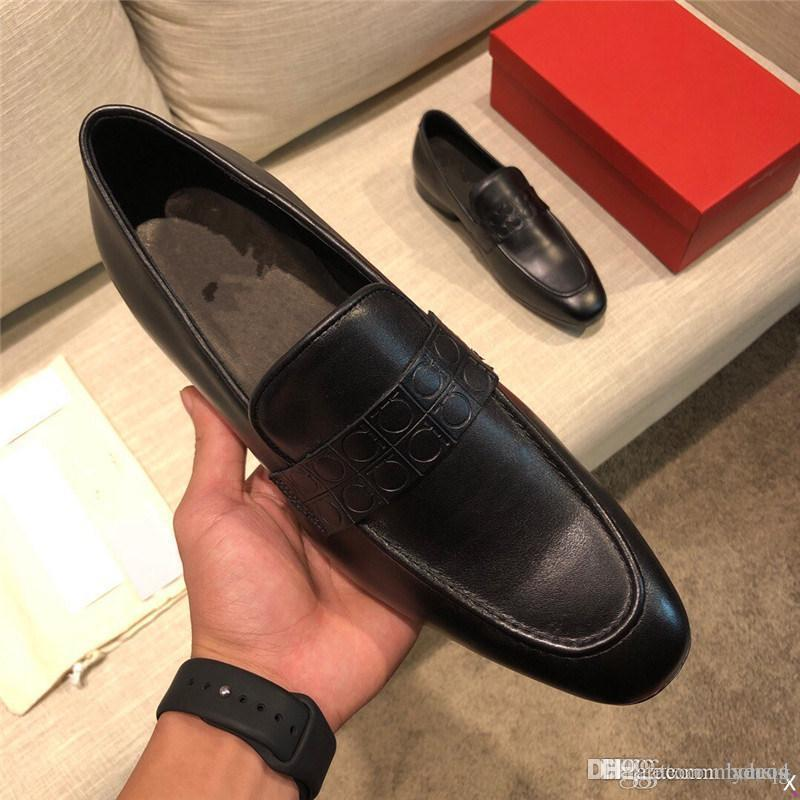 MM Hommes Pu Cuir Chaussures Casual Chaussures Casual Chaussures Chaussures Brousse Chaussure Spring Bottines Vintage Classique Mâle Casual 33