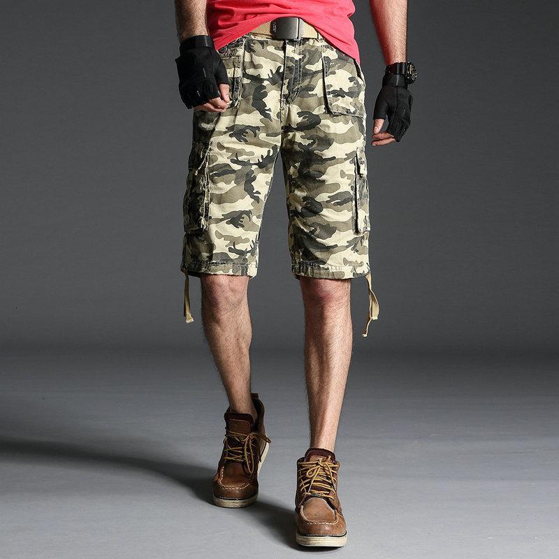 Nueva venta caliente 2021 verano pantalones cortos de camuflaje hombres casual algodón de algodón de alta calidad ropa más tamaño militar pantalón corto 5kov 58hm