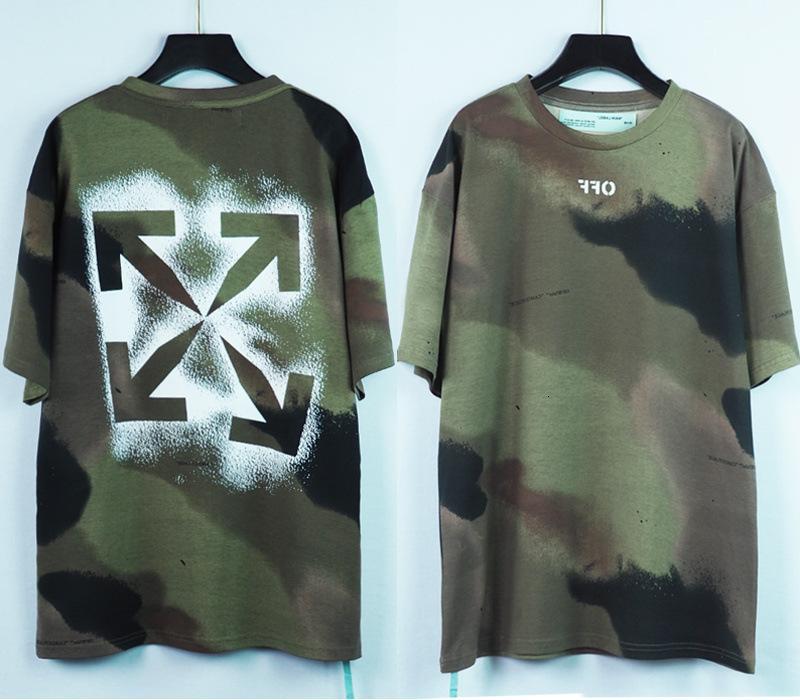 Neue 20ss Camouflage Spray Paint Arrstyle Style Kurzarm Männer und Damen Lose Reiner Baumwolle T-Shirt Mode Marke
