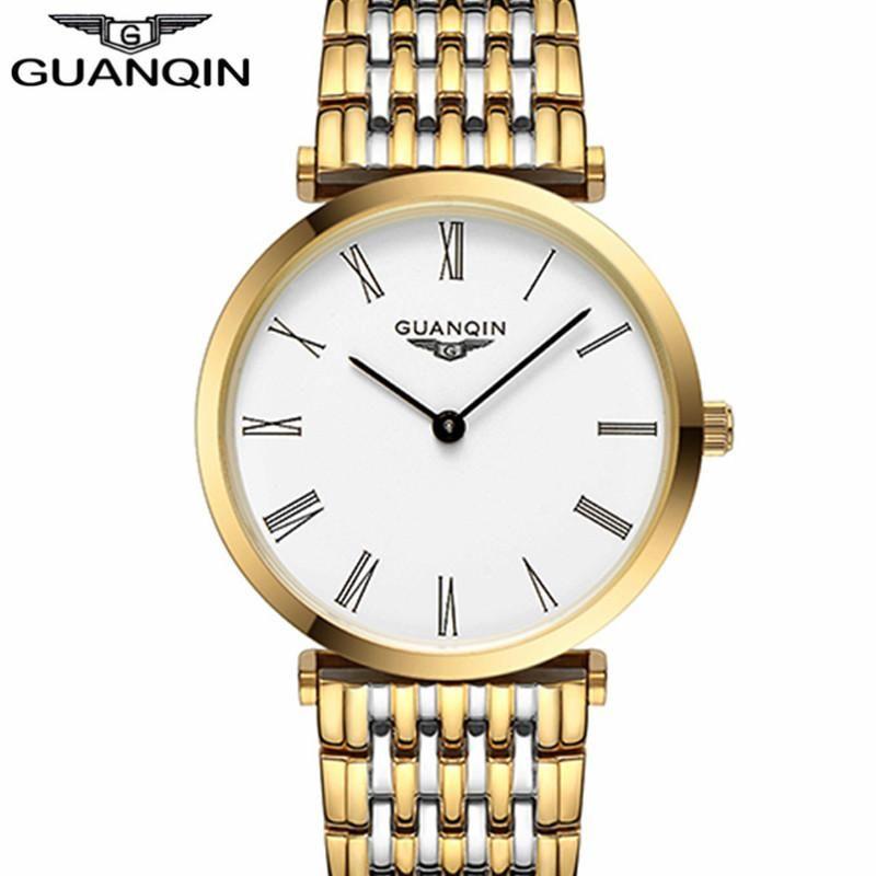 Guanqin montres Hommes New Mode Designer Marque originale Sapphire Saphir étanche ultra mince 6mm Hommes Montre-bracelet à quartz