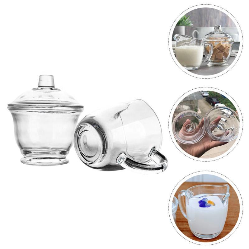 Mugs 1 Set Of Cup And Sugar Bowl Glass Storage Box For Coffee