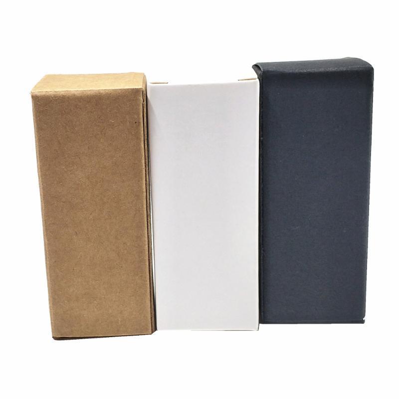 50 adet / adet Kraft Kağıt Küçük Ambalaj Kutusu Parfüm Şişesi Kozmetik Ruj Kaynağı Depolama Karton Kutu Kağıt Bahçesi Hediyeler